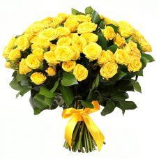 """101 жовта троянда """"Лучезара"""""""