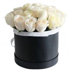 """25 импортных белых роз """"Белый шоколад"""""""