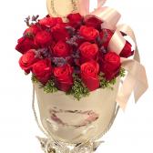 """25 импортных красных роз """"Шарлотта"""""""
