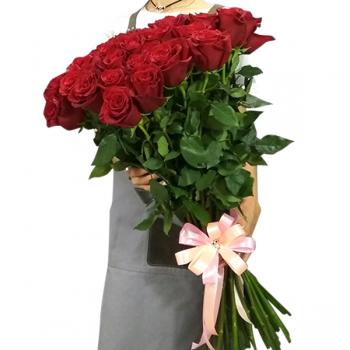 """25 красных роз """"Амалия"""". annetflowers.com.ua. Купить букет красных роз"""