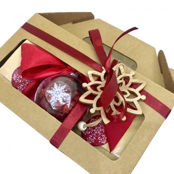 """Подарочная коробка к Новому году """"Новогодний шар"""". annetflowers.com.ua. Купить подарочную коробку к Новому году """"Новогодний шар"""""""