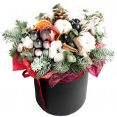 "Новогодняя шляпная коробка ""Зимняя сказка"""