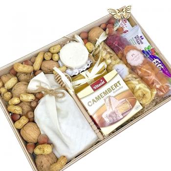 """Подарочная коробка """"Витаминчик"""". annetflowers.com.ua. Купить подарочную новогоднюю коробку """"Витаминчик"""""""