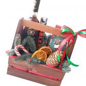 """Подарочный новогодний ящик """"Санта-Клаус"""""""