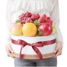 """Шляпная коробка с фруктами """"Тортик"""""""