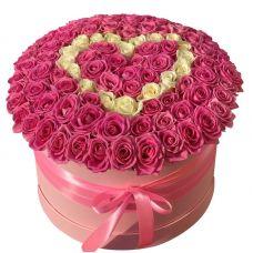 """Большая коробка из 101 розы """"Big Love"""""""