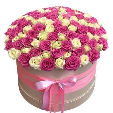 """Большая коробка роз микс """"Подарок любимой"""""""