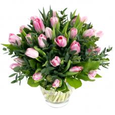 """Букет 31 розовый тюльпан """"Весеннее благоухание"""""""