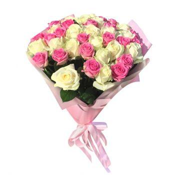 """Купить букет 51 роза """"Жюли"""". annetflowers.com.ua. Заказ 51 розы с доставкой по украине"""