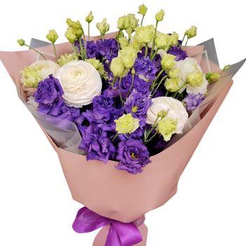 """Букет эустомы """"Воздушная мечта"""". annetflowers.com.ua. Купить букет цветов эустомы по доступной цене"""