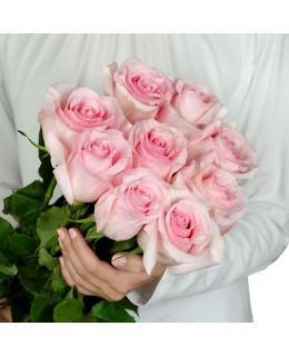 Букет из 9 голландских розовых роз