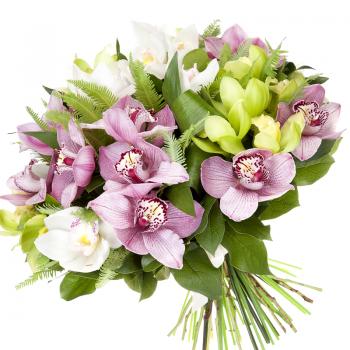 """Букет из орхидей """"Любимой"""". annetflowers.com.ua. Купить букет орхидей с доставкой по Киеву"""