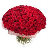 """Букет из 101 красной розы """"Пламя"""""""