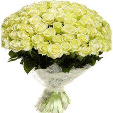 """Букет з троянд """"Біле золото"""""""