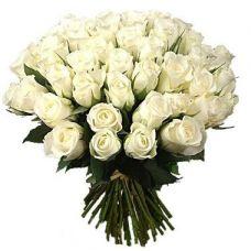 """Букет из роз """"Белый жемчуг"""""""