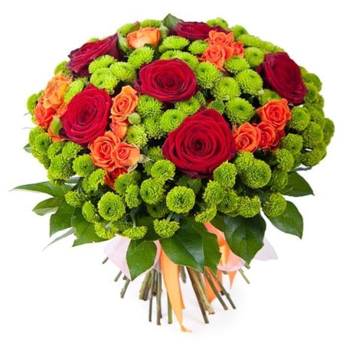 Цветы розы и хризантемы фото