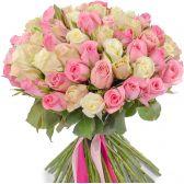 """Букет из 101 розы микс """"Красотка"""", 60 см"""