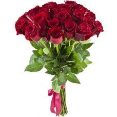 """Букет из 25 красных роз """"Танец огня"""""""