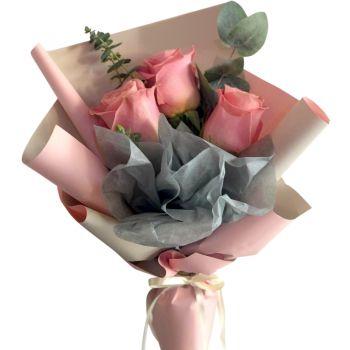 """Букет роз """"Надежда"""". annetflowers.com.ua. Купить букет розовых роз"""