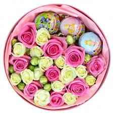 """Букет троянд у круглій коробці """"Ребекка"""""""