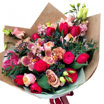 """Букет цветов """"Весенний лучик"""". annetflowers.com.ua. Купить цветы на 8 марта"""
