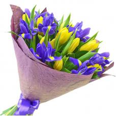 """Букет тюльпанів та ірисів """"Весняний бум"""""""