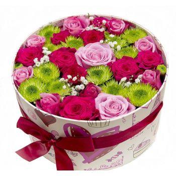 Цветы в шляпной коробке Восторг