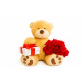 """Большой мишка с розами """"Для любимой"""""""