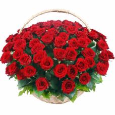 """Композиция из красных роз """"С Днем Рождения"""""""