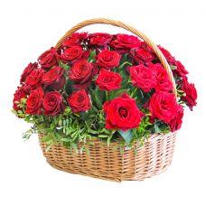 """Корзина роз """"Юбилей"""""""