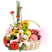 """Корзина с фруктами и цветами """"Ах Лето"""""""