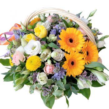 """Корзина цветов """"Прилелето"""". annetflowers.com.ua. Купить цветы в корзине недорого в Киеве"""