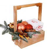 """Новогодний деревянный ящик """"Коллегам"""""""