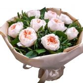 """Букет пионовидных роз """"9 розочек"""""""