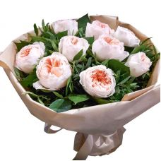 """Букет піоновідние троянд """"9 трояндочок"""""""