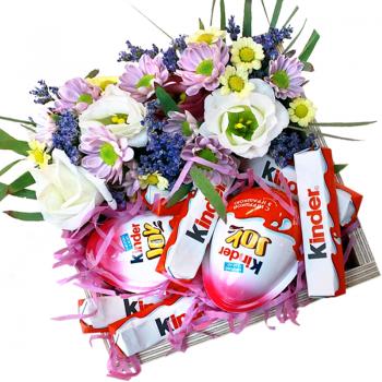 """Подарочная коробка """"Киндер сюрприз"""". annetflowers.com.ua. Купить коробку с подарком"""