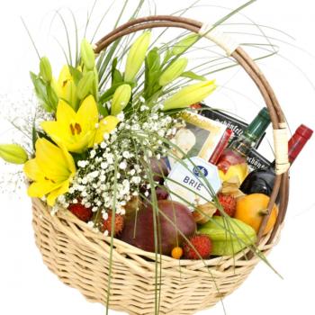 """Подарочная корзина """"Весна"""". annetflowers.com.ua. Купить цветы в корзине"""