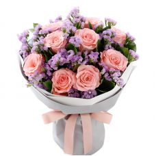 "Букет из розовых роз ""Алена"""