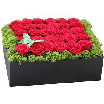 Купить Розы в коробке Единственной в Киеве