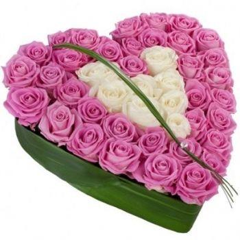 Сердце из роз Адель