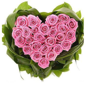 "Сердце из роз ""Нежное сердце"""