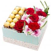 """Сладкая коробка с цветами """"Марианна"""""""