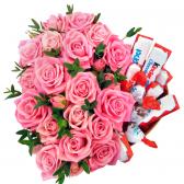 """Сладкое сердце из роз """"Моника"""""""