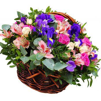 """Цветочная корзина """"Весна пришла"""". annetflowers.com.ua. Купить цветы в корзине в Киеве"""