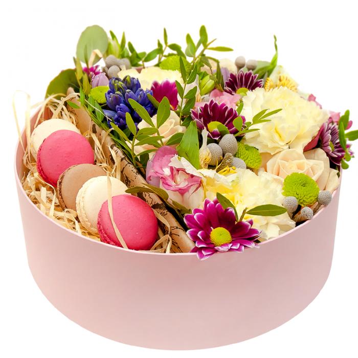 цветы в круглой коробке фото портретах
